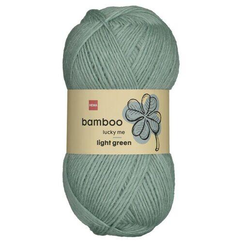 HEMA Strickgarn, Wolle-Bambus, 100 G, Grün