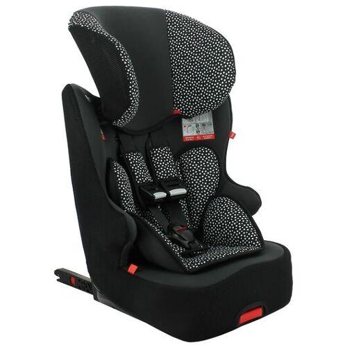 HEMA Mitwachsender Auto-Kindersitz, 9 - 36 Kg, Isofix, Schwarz Mit Weißen Punkten