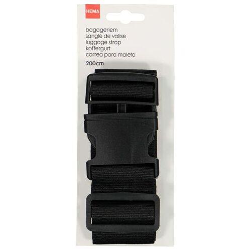 HEMA Koffergurt, 200 Cm, Schwarz