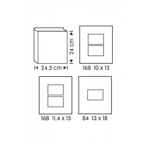 HEMA Fotoalbum, 24 X 24.5 Cm, Blattmuster