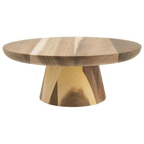 HEMA Servierplatte Mit Fuß, Holz, Ø 28 Cm