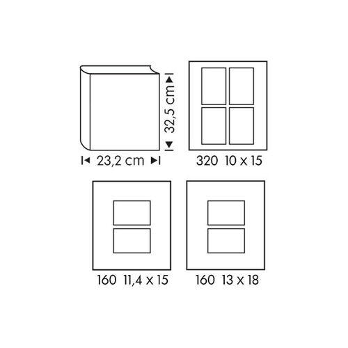 HEMA Fotoalbum, 32.5 X 23.2 Cm, Blätter