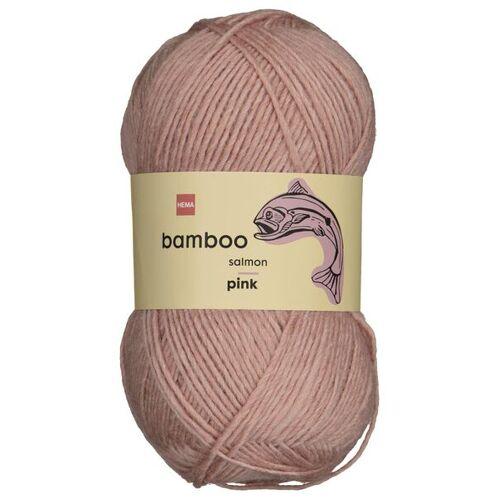 HEMA Strickgarn, Wolle-Bambus, 100 G, Rosa
