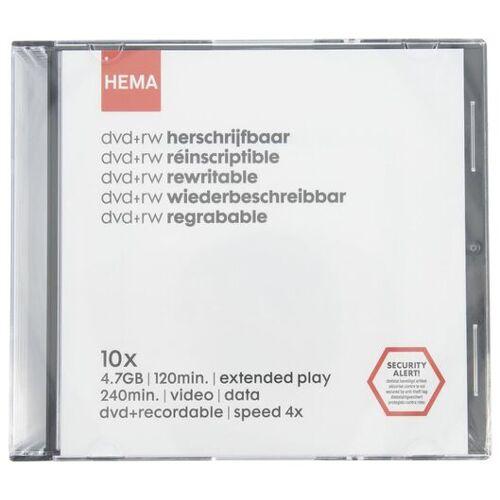 HEMA 10er-Pack Wiederbeschreibbare Rohlinge DVD+ RW - 4,7 GB