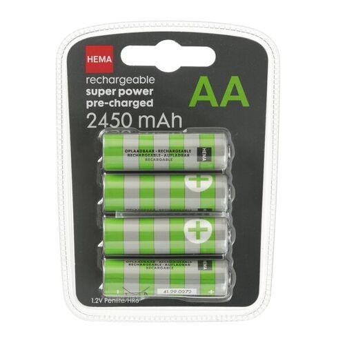 HEMA 4er-Pack Akkus, 2450 MAh