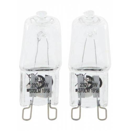 HEMA 2er-Pack Halogen-Stiftsockellampen - 40 W - 370 Lm - Klar