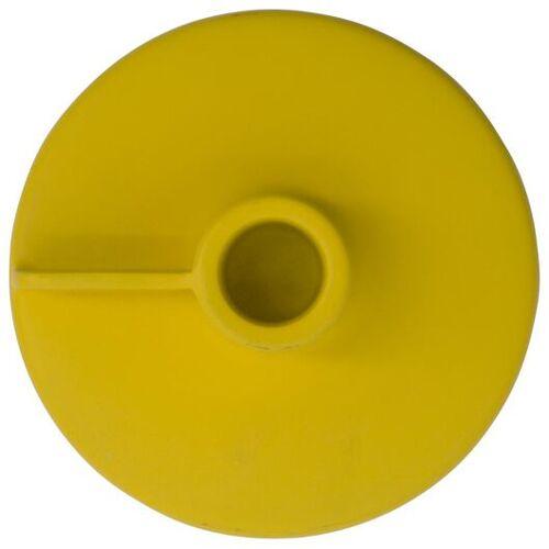HEMA Kerzenständer Für Teelichte/Haushaltskerzen, Ø 11 X 8 Cm, Metall, Gelb