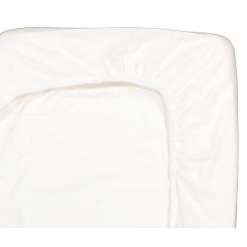 HEMA Spannbettlaken, 160 X 200 Cm, Flanell, Weiß