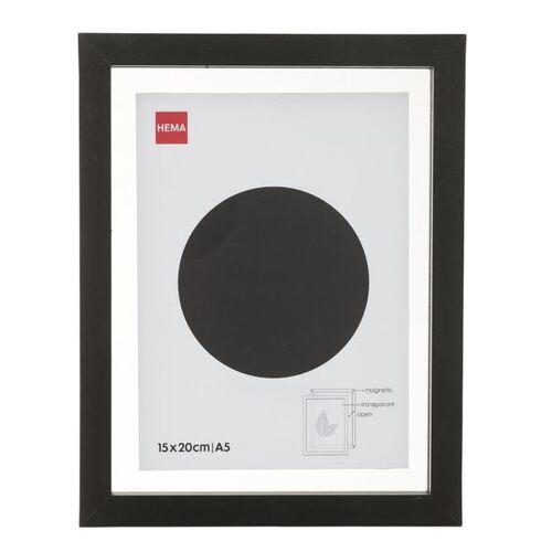 HEMA Holz-Bilderrahmen, 15 X 20 Cm, Schwarz, Magnetisch