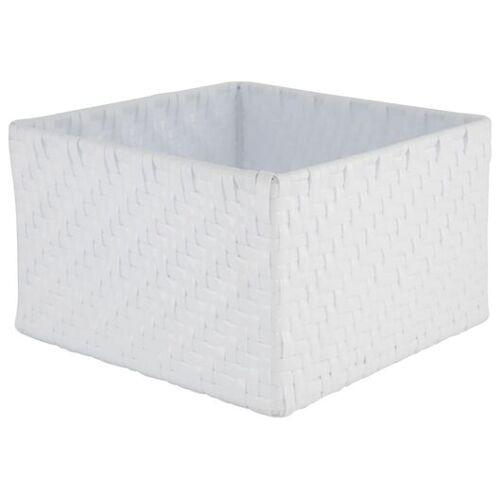 HEMA Aufbewahrungskorb, 20 X 20 X 12 Cm, Weiß