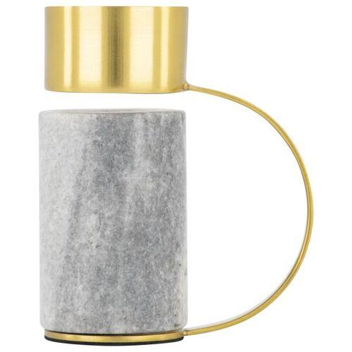 HEMA Teelichthalter, 10 Cm, Marmor/Metall