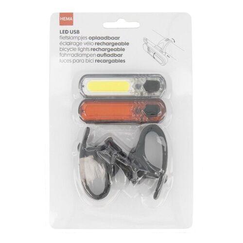 HEMA 2er-Pack Wiederaufladbare USB-LED-Fahrradlampen