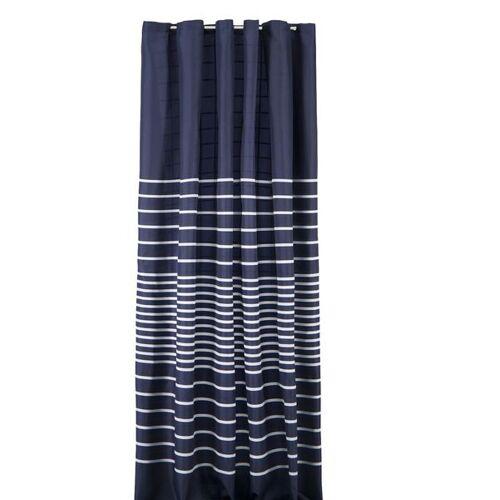 HEMA Duschvorhang, 180 X 200 Cm, Textil, Blau-weiß Gestreift