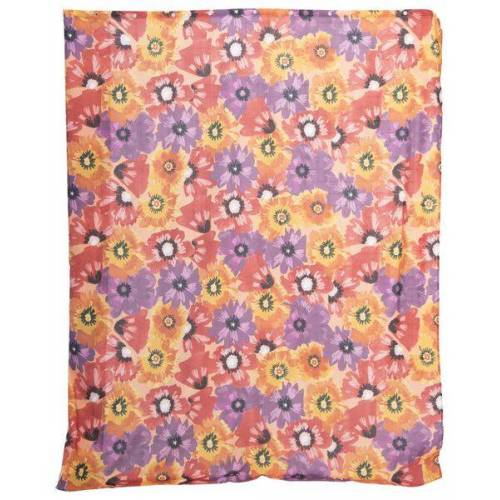 HEMA Textil-Duschvorhang, 180 X 200 Cm, Blumen