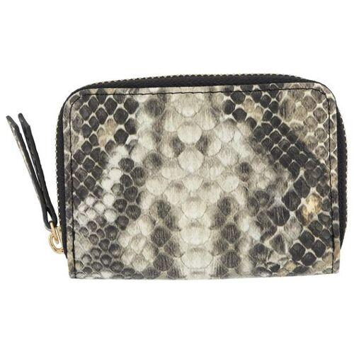 HEMA Portemonnaie, Schlangenlederoptik, Schwarz-grau-weiß