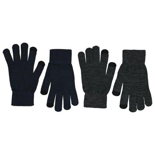 HEMA 2er-Pack Herren-Handschuhe, Touchscreengeeignet Grau