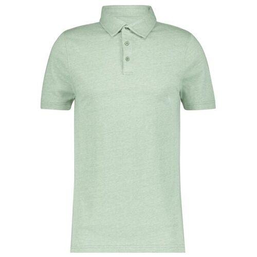 HEMA Herren-Poloshirt, Jersey Grün