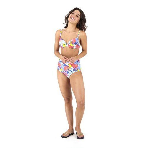 HEMA Damen-Bikinislip, High Waist Blau