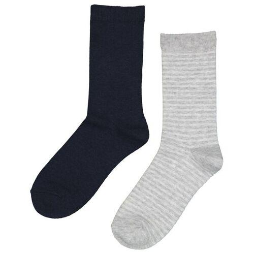 HEMA 2er-Pack Damen-Socken Mit Bambus Blau