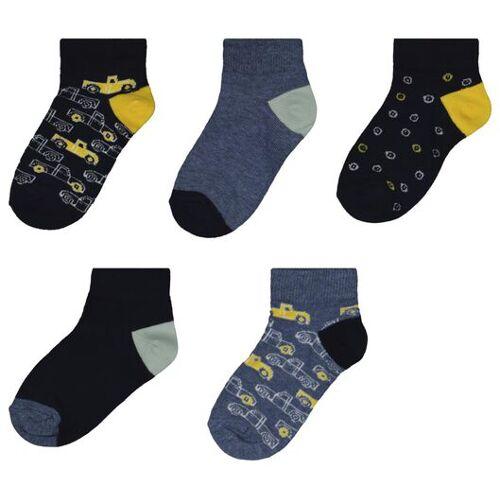 HEMA 5er-Pack Kinder-Socken, Autos Blau