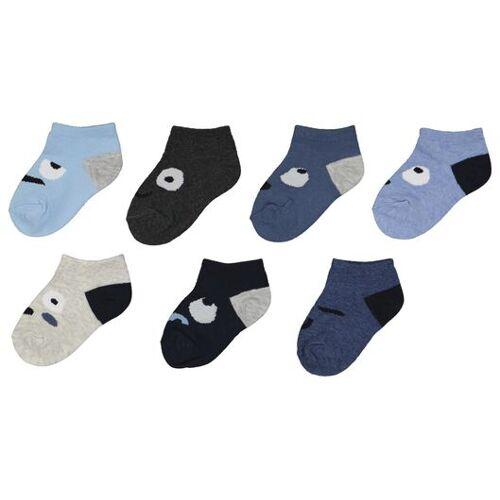 HEMA 7er-Pack Kinder-Socken, Stimmungen Blau