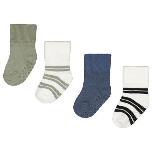 HEMA 4er-Pack Baby-Socken Mit Bambus, Streifen Blau