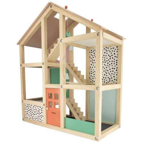 HEMA Holz-Puppenhaus, Möbliert, 52 X 24 X 61.5 Cm