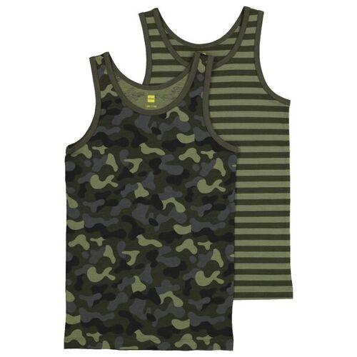 HEMA 2er-Pack Kinder-Hemden, Tarnfleckenmuster Grün