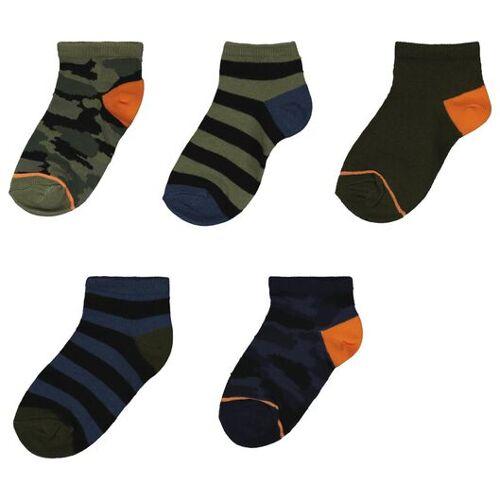HEMA 5er-Pack Kinder-Socken, Tarnflecken Bunt