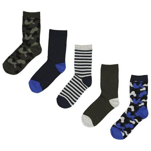 HEMA 5er-Pack Kinder-Socken, Tarnfleckenmuster Grün