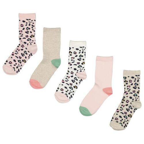 HEMA 5er-Pack Kinder-Socken, Leopardenmuster Bunt