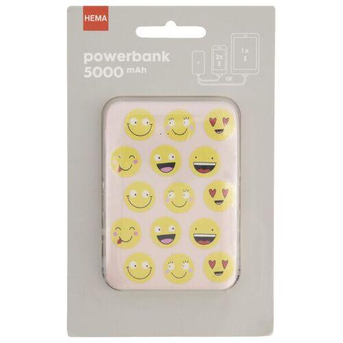 HEMA Powerbank, 5000 MAh, Smileys