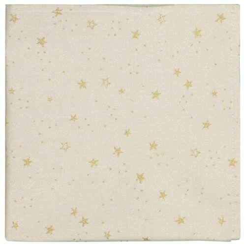 HEMA 2er-Pack Servietten, 47 X 47 Cm, Baumwolle, Goldene Sterne