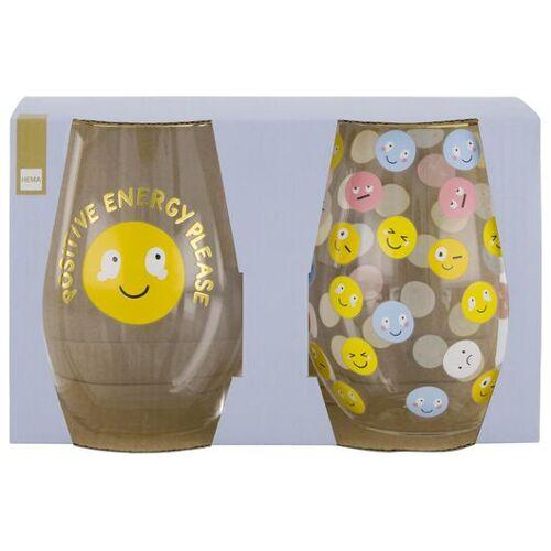 HEMA 2er-Pack Gläser, Smileys
