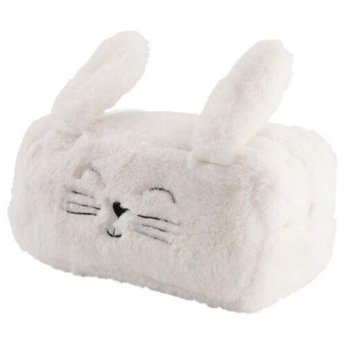 HEMA Flauschiges XL-Täschchen, Hase, Weiß