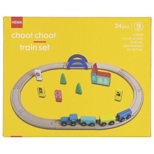 HEMA Holz-Eisenbahnset
