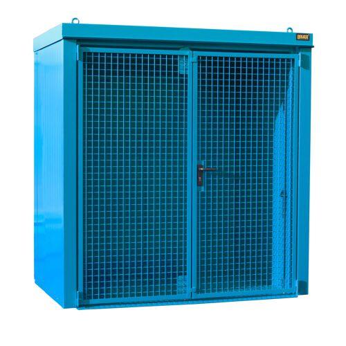 Bauer Gasflaschen-Container GFC-B M1, Lichtblau für 28x Gasflaschen Ø 230 mm