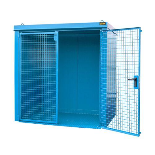 Bauer Gasflaschen-Container GFC-B M2, Lichtblau für 35x Gasflaschen Ø 230 mm