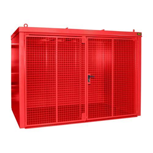 Bauer Gasflaschen-Container GFC-B M4, Feuerrot für 60x Gasflaschen Ø 230 mm
