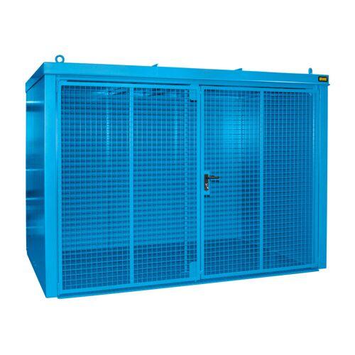 Bauer Gasflaschen-Container GFC-B M4, Lichtblau für 60x Gasflaschen Ø 230 mm