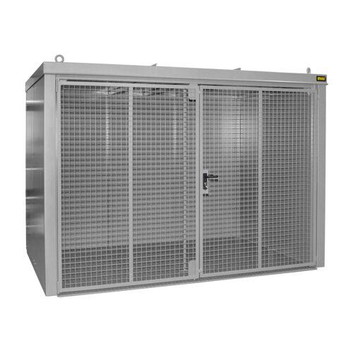 Bauer Gasflaschen-Container GFC-B M4, Mausgrau für 60x Gasflaschen Ø 230 mm