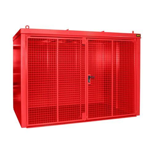 Bauer Gasflaschen-Container GFC-B M5, Feuerrot für 96x Gasflaschen Ø 230 mm
