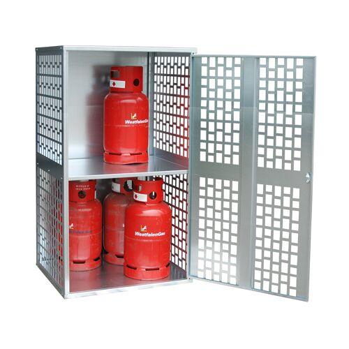 Bauer Gasflaschen-Depot GFD-L 1, verzinkt, 1 Tür, gelocht für 10x 11 kg-Gasflaschen