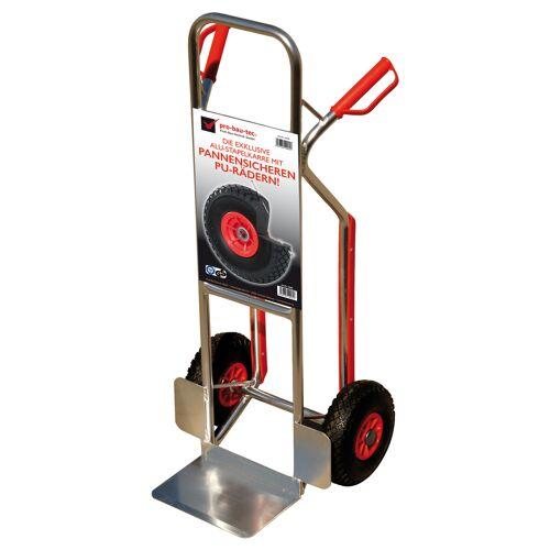Pro-Bau-Tec Alu-Stapelkarre Exklusiv mit Treppenrutsche und PU-Rädern