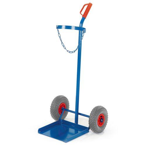 Rollcart Propangasflaschenroller 100kg Traglast für 1 Flasche Ø320mm Vollgummi