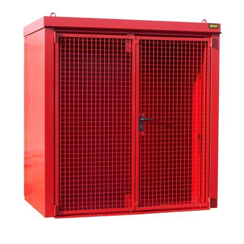 Bauer Gasflaschen-Container GFC-B M1, Feuerrot für 28x Gasflaschen Ø 230 mm