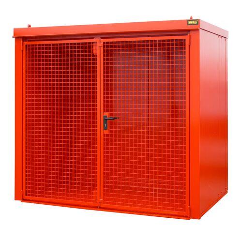 Bauer Gasflaschen-Container GFC-B M3, Feuerrot für 45x Gasflaschen Ø 230 mm