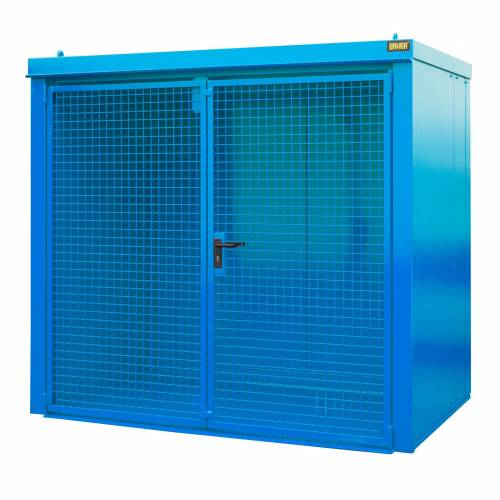 Bauer Gasflaschen-Container GFC-B M3, Lichtblau für 45x Gasflaschen Ø 230 mm