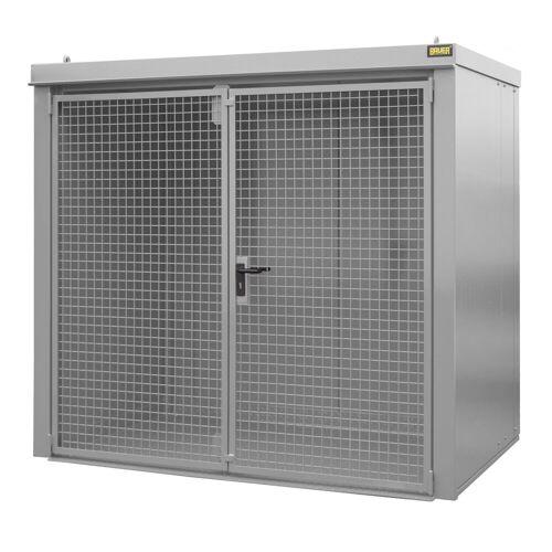 Bauer Gasflaschen-Container GFC-B M3, Mausgrau für 45x Gasflaschen Ø 230 mm
