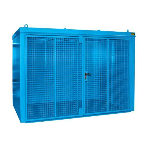 Bauer Gasflaschen-Container GFC-B M5, Lichtblau für 96x Gasflaschen Ø 230 mm